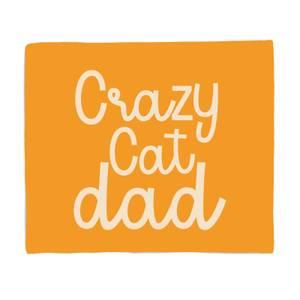 Crazy Cat Dad Bed Throw