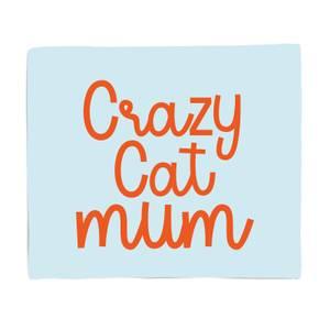 Crazy Cat Mum Bed Throw