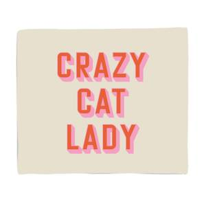 Crazy Cat Lady Bed Throw