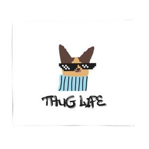 Thug Life Dog Bed Throw