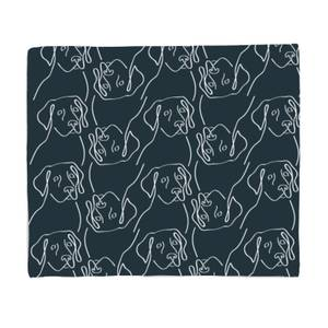 Abstract Dog Pattern Bed Throw