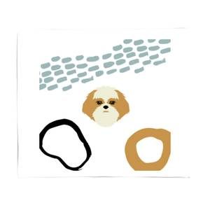 Abstract Dog Bed Throw