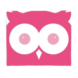 Pink Owl Bed Throw