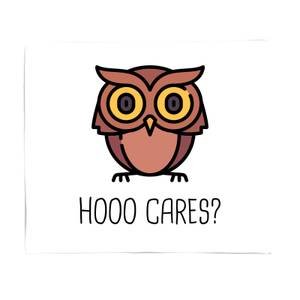 Hoo Cares? Bed Throw