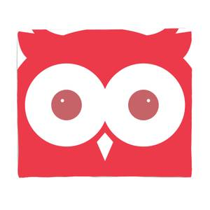 Red Owl Bed Throw