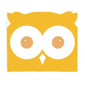 Yellow Owl Bed Throw