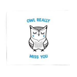 Owl Really Miss You Bed Throw