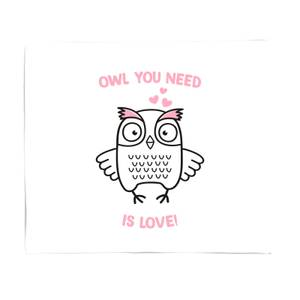 Owl You Need Is Love Bed Throw