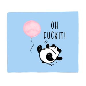 Panda Oh Fuck It! Bed Throw