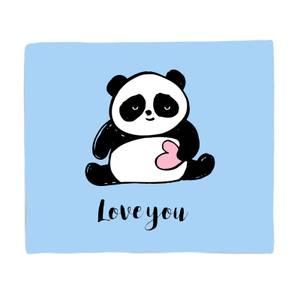 Panda Love Bed Throw