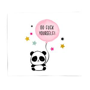 Naughty Panda Bed Throw