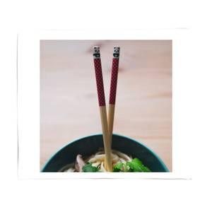 Panda Chopsticks Bed Throw