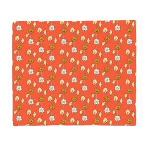 60s Small FLowers Bed Throw
