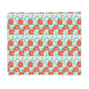 Bright 60s Flower Bed Throw