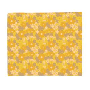 60s Flower Print Bed Throw