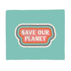 Save Our Planet Bed Throw