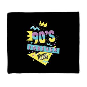 Born In The 90s Forever Young Graphic Bed Throw