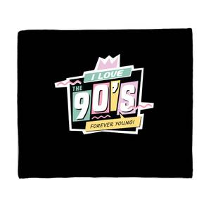 I Love The 90's Graphic Bed Throw