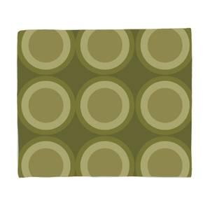 Green Circles Bed Throw