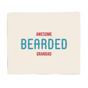 Awesome Bearded Grandad Bed Throw