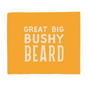 Great Big Bushy Beard Bed Throw