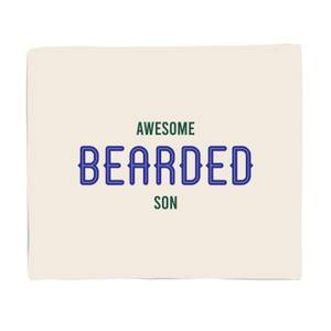 Awesome Bearded Son Bed Throw