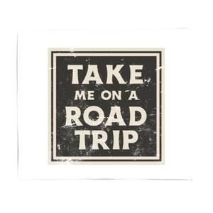 Take Me On A Road Trip Bed Throw