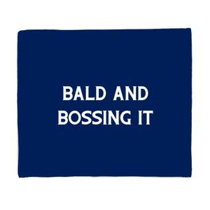 Bald And Bossing It Bed Throw
