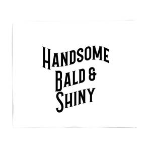 Handsome, Bald And Shiny Bed Throw