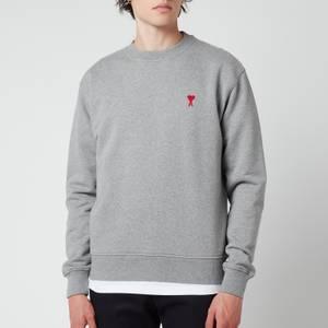 AMI Men's De Coeur Sweatshirt - Heather Grey