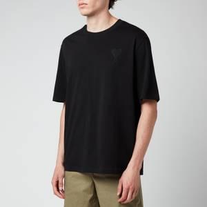 AMI Men's Oversized De Coeur Logo T-Shirt - Black