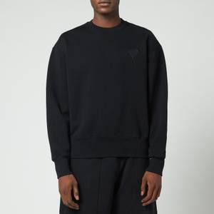 AMI Men's Oversized De Coeur Logo Sweatshirt - Black