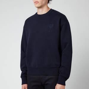 AMI Men's Oversized De Coeur Logo Sweatshirt - Navy