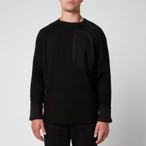 Tom Wood Men's Military Knit Jumper - Pitch Black