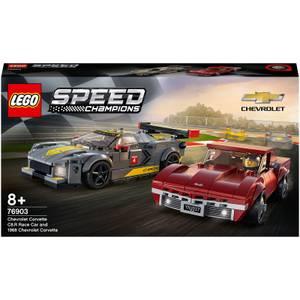 LEGO Speed Champions Corvette C8-R & 1968 Corvette C3 Set (76903)