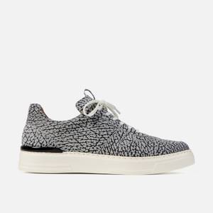 Duke + Dexter Men's Ritchie Nelly Printed Suede Cupsole Trainers - Black