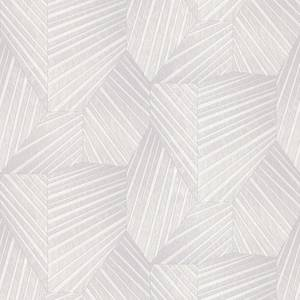 Elle Decoration Stripe Light Silver Wallpaper