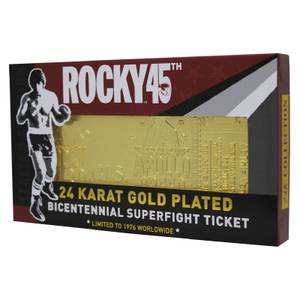 Rocky - Billet de combat plaqué or 24K Rocky V Apollo Creed