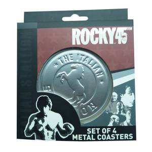 Rocky - Set Of Four Metal Embossed Drinks Coasters