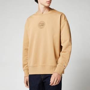 Tommy Jeans Men's Tonal Circular Graphic Sweatshirt - Classic Khaki