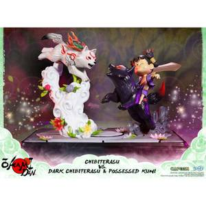 First 4 Figures - Okamiden Chibiterasu VS Dark Chibiterasu & Possessed Kuni Resin Figure