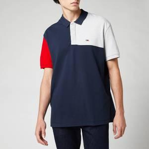 Tommy Jeans Men's Colorblock Polo Shirt - Twilight Navy/Multi