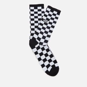 Vans Men's Checkerboard Crew Socks - Black/White Check