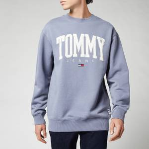 Tommy Jeans Men's Collegiate Crewneck Sweatshirt - Faded Grape