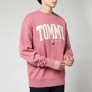 Tommy Jeans Men's Collegiate Crewneck Sweatshirt - Moss Rose