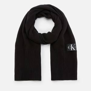 Calvin Klein Jeans Men's Knitted Scarf - Black Beauty