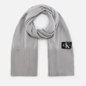 Calvin Klein Jeans Men's Knitted Scarf - Mid Grey Heather