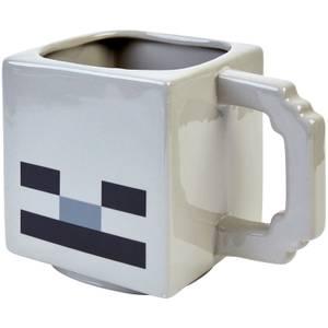 Minecraft Skeleton 3D Sculpted Ceramic Mug