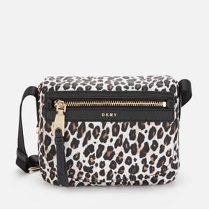 DKNY Women's Cora Nylon Cross Body Bag - Leopard