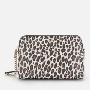 DKNY Women's Bryant Park Dome Cross Body Bag - Leopard